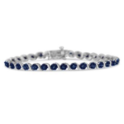 1 CT. T.W. Genuine Blue Diamond 7 Inch Tennis Bracelet