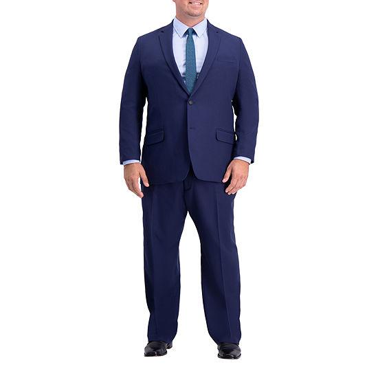 Haggar Active Series Herringbone Big And Tall Suit Separates