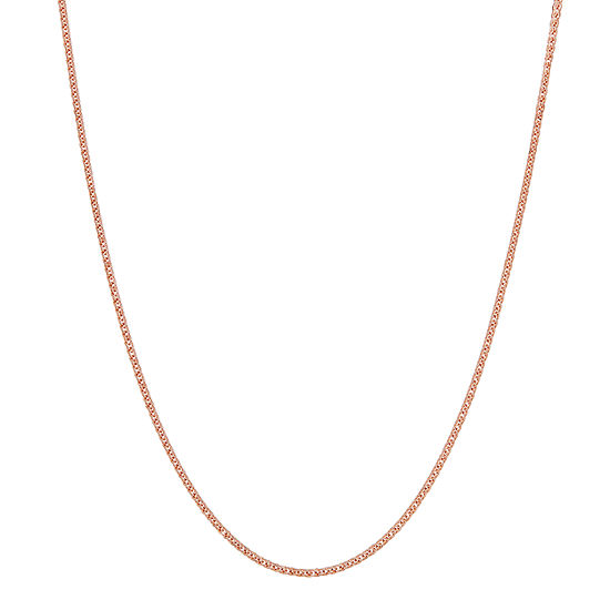 Made in Italy 14K Rose Gold 18 Inch Hollow Chain Necklace