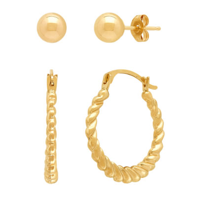 10K Gold Earring Set