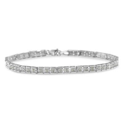 1 CT. T.W. White Diamond 7 Inch Tennis Bracelet