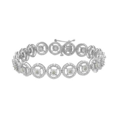 1 CT. T.W. White Diamond Sterling Silver 7 Inch Tennis Bracelet