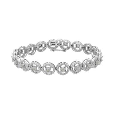 1/2 CT. T.W. White Diamond Sterling Silver 7 Inch Tennis Bracelet