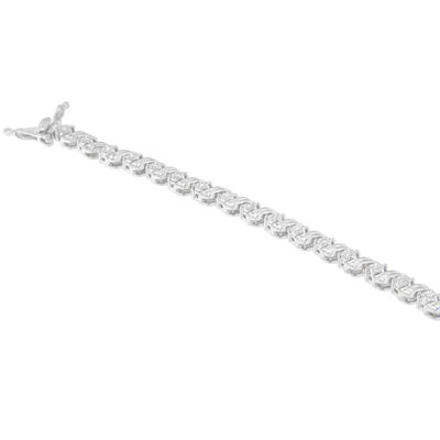 1/4 CT. T.W. White Diamond Sterling Silver 7 Inch Tennis Bracelet