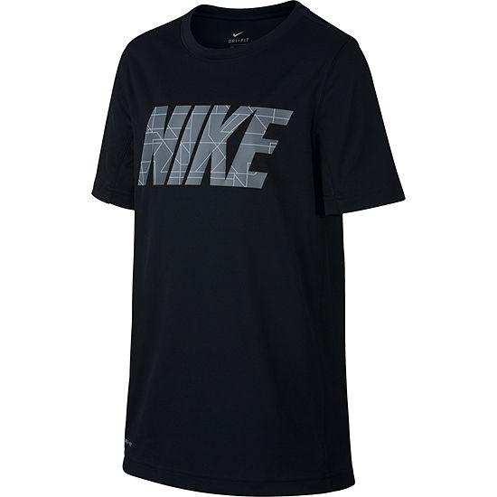 5a50d95a Nike Boys Crew Neck Short Sleeve Dri-Fit T-Shirt-Big Kid - JCPenney