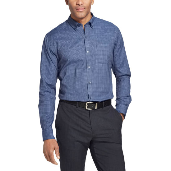 Van Heusen Long Sleeve Button-Front Shirt-Slim