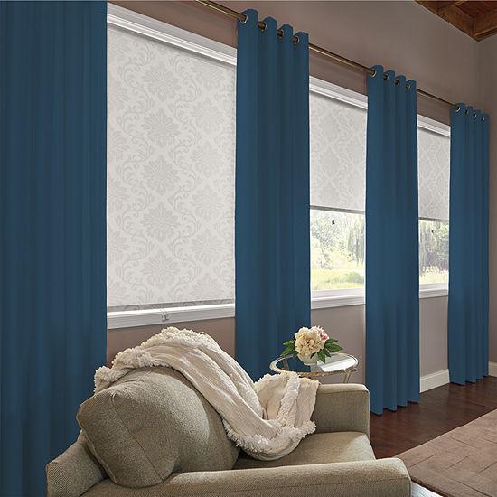 Bali Coastal Custom Room Darkening Grommet-Top Curtain Panel