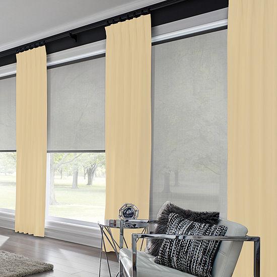 Bali Coastal Custom Room Darkening Pinch-Pleat Curtain Panel