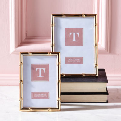 Two's Company Gold Gallery Set Of 2 Rose Gold Photo Frames