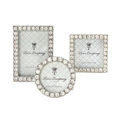 Two's Company Diamonds Set Of 3 Jeweled Mini Frames Assorted 3 Styles