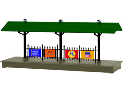 Lionel Trains Santa Fe Plug-Expand-Play Illuminated Station Platform