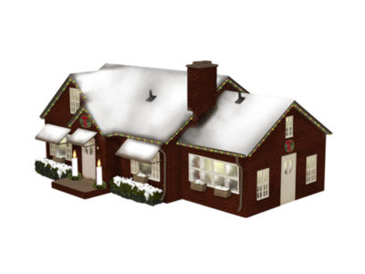 Lionel Trains Plug-Expand-Play Deluxe Christmas House
