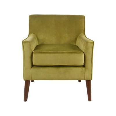 HomePop Davis Mid-Century Velvet Accent Chair