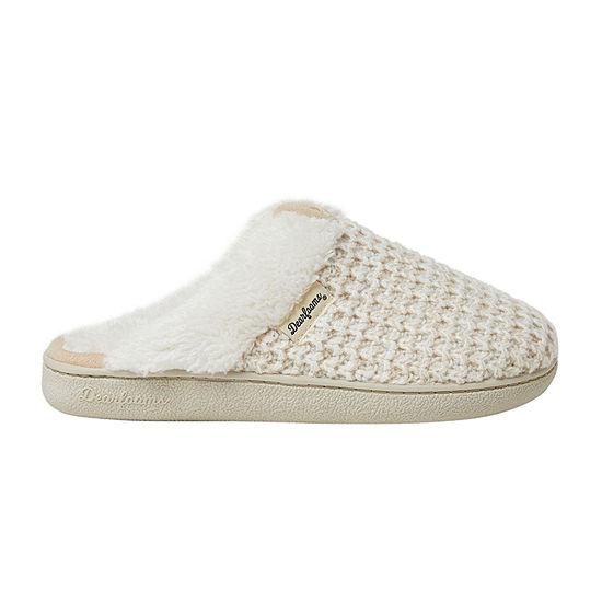 Dearfoams Textured Knit Scuff Womens Slip-On Slippers