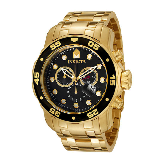 Invicta Pro Diver Mens Gold Tone Stainless Steel Bracelet Watch - 0072