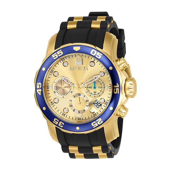 Invicta Pro Diver Mens Two Tone Stainless Steel Strap Watch-17881