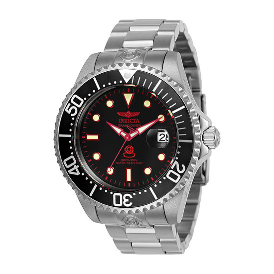 Invicta Pro Diver Mens Automatic Silver Tone Stainless Steel Bracelet Watch-24764