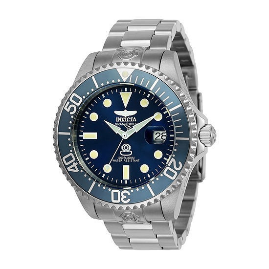 Invicta Pro Diver Mens Automatic Silver Tone Stainless Steel Bracelet Watch-24765