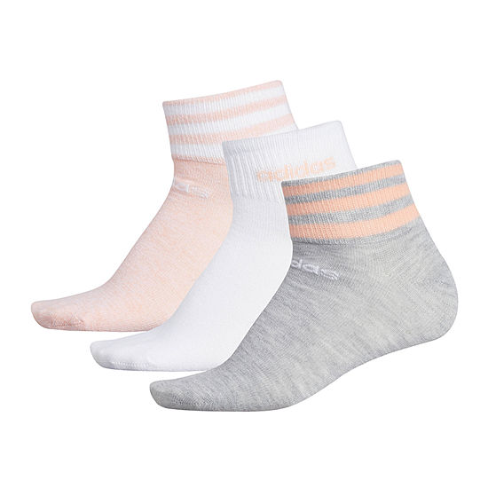adidas 3 Pair Low Cut Socks Womens