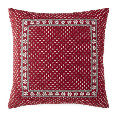 North Pole Trading Co. Winter Wonderland Striped Euro Pillow