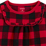 Carter's Christmas Girls Nightgown Long Sleeve Crew Neck