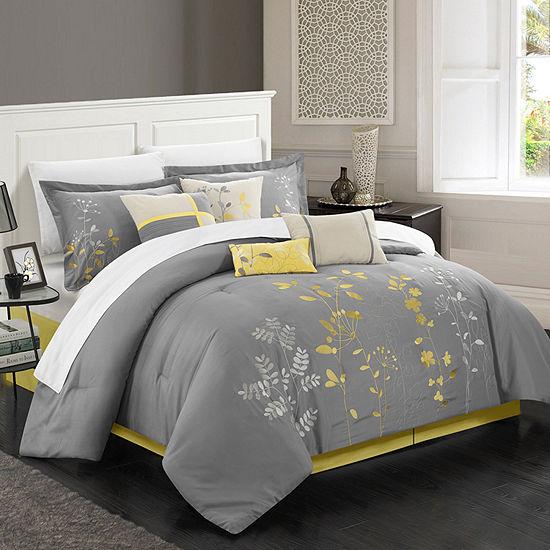 Chic Home Bliss Garden 12-Piece Comforter