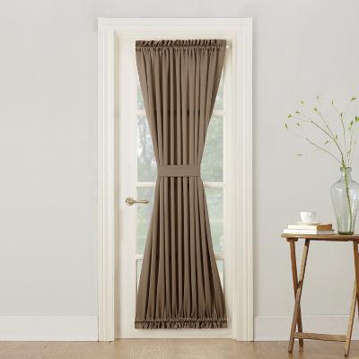 Sun Zero Emory Light-Filtering Rod-Pocket Single Door Panel Curtain