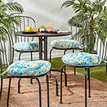 "Greendale Home Fashions 15"" Round Bistro Patio Seat Cushion - Set of 4"""