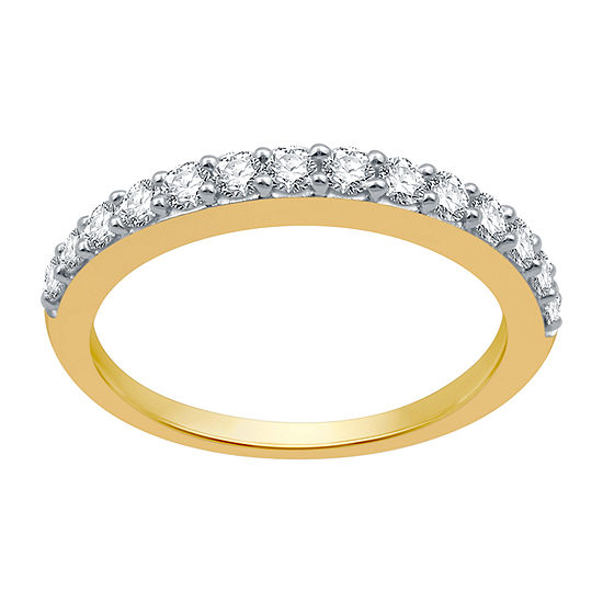2MM 1/2 CT. T.W. Genuine White Diamond 10K Gold Wedding Band