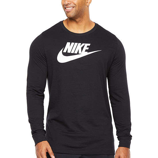 Nike-Big and Tall Mens Crew Neck Long Sleeve Moisture Wicking T-Shirt