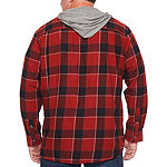 The Foundry Big & Tall Supply Co. Big and Tall Mens Hooded Neck Long Sleeve Flannel Shirt