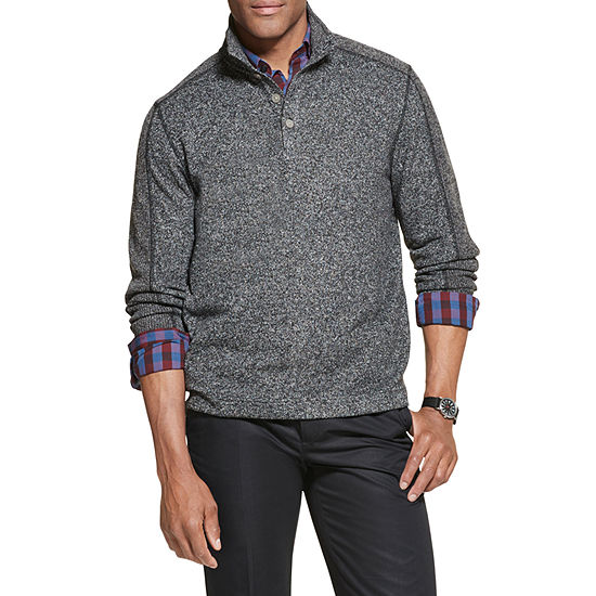 Van Heusen Big and Tall Mens Mock Neck Long Sleeve Sweatshirt