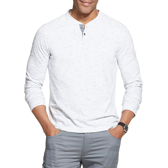 Van Heusen Mens Long Sleeve Stretch Henley Shirt - Big and Tall