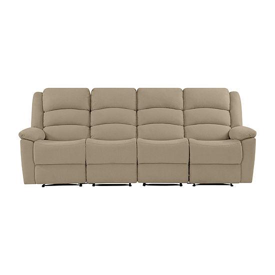 Hairu Velvet 4 Seat Recliner Sofa