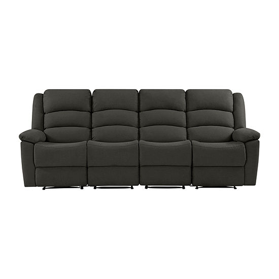 Hairu Velvet 4 Seat Recliner Sofa
