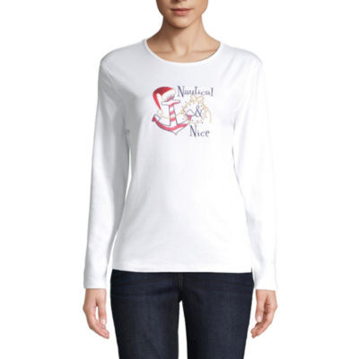 Mc2-Womens Crew Neck Long Sleeve T-Shirt