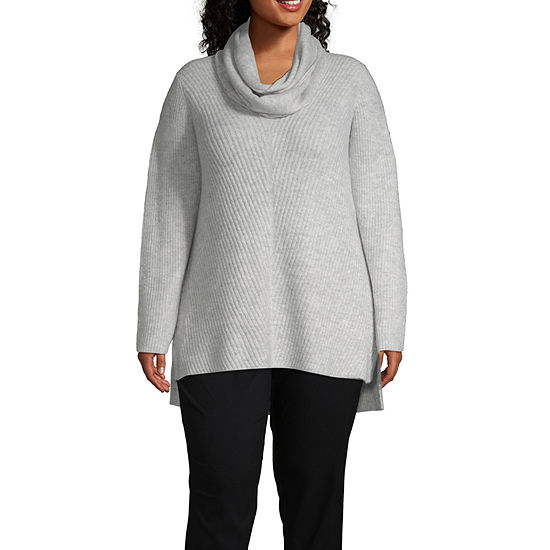 Liz Claiborne Long Sleeve Tunic Sweater - Plus