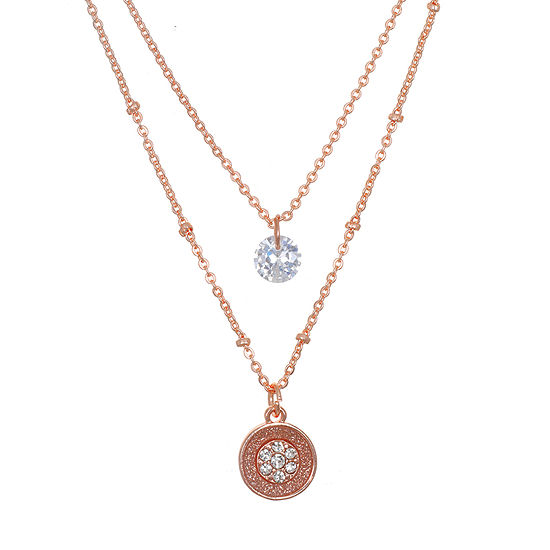 Mixit 16 Inch Link Round Pendant