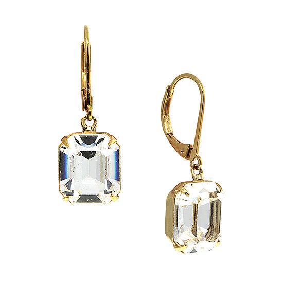 1928 1 Pair Crystal Drop Earrings