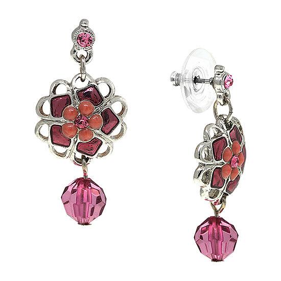 1928 Purple Drop Earrings