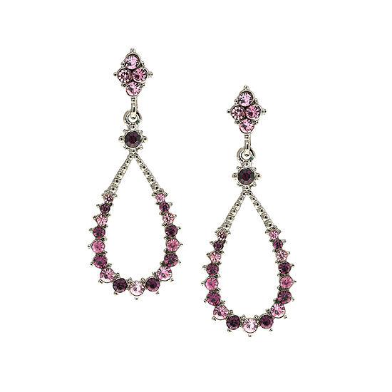 1928 Purple Hoop Earrings