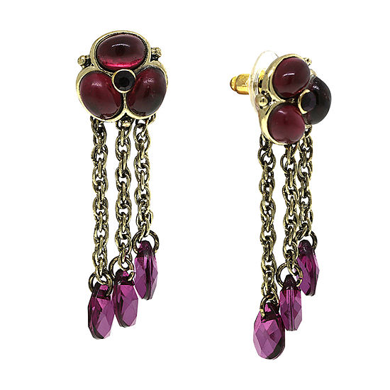 1928 Purple Drop Earrings