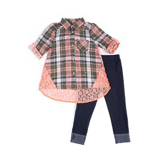 Little Lass Girls 2-pc. Legging Set-Baby