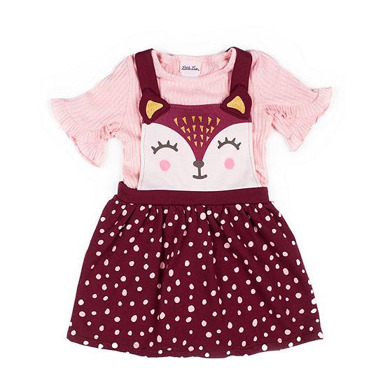 Little Lass 2-pc. Girls Short Sleeve A-Line Dress - Baby
