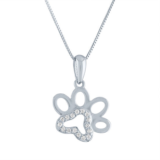 Womens Diamond Accent Genuine Diamond 10K Gold Pendant Necklace