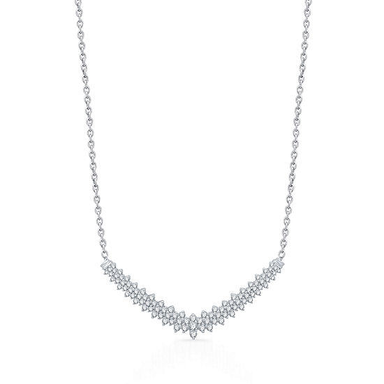 Ever Star 10K White Gold 16 Inch Solid Curb Chain Necklace