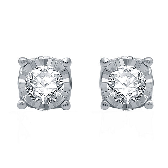 Ever Star 3/4 CT. T.W. Lab Grown White Diamond 10K White Gold Stud Earrings