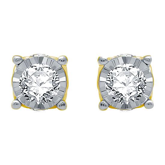 Ever Star 3/4 CT. T.W. Lab Grown White Diamond 10K White Gold Stud Earrings