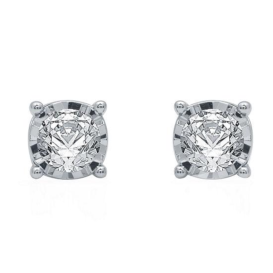 Ever Star 1 CT. T.W. Lab Grown White Diamond 10K White Gold Stud Earrings