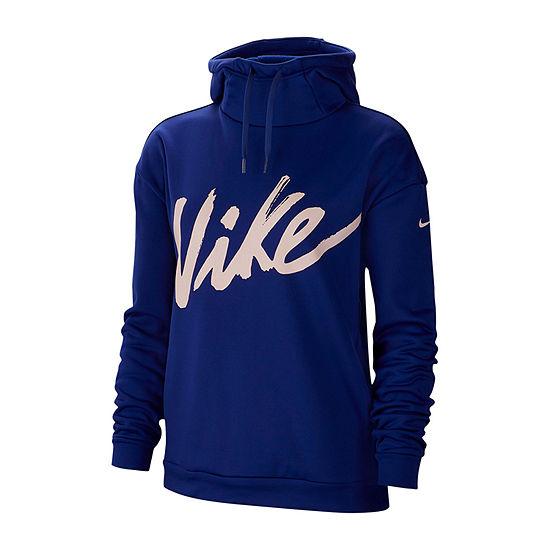 Nike Womens Therma Script Long Sleeve Hoodie